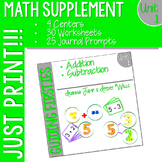 First Grade Math Printables UNIT 1