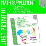 First Grade Math: Homework UNIT 2