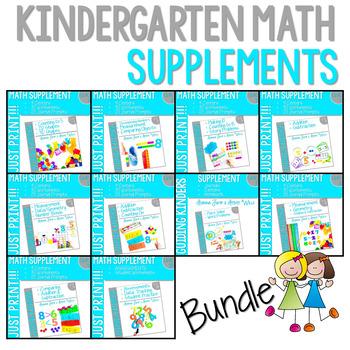 Kindergarten Math Homework: Yearlong Bundle