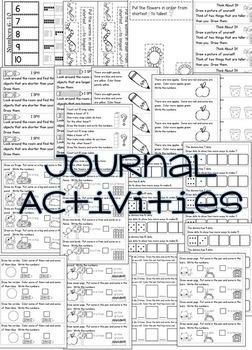 Kindergarten Math Printables Yearlong Bundle