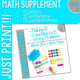 Kindergarten Math Printables UNIT 3