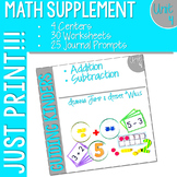 Kindergarten Math Printables UNIT 4
