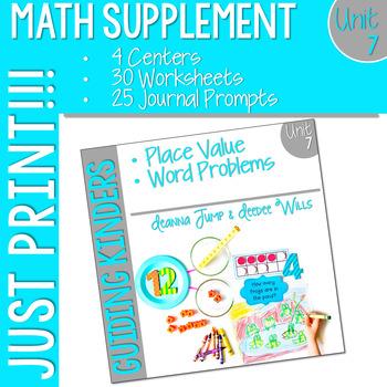 Kindergarten Math Printables UNIT 7 by Deanna Jump | TpT