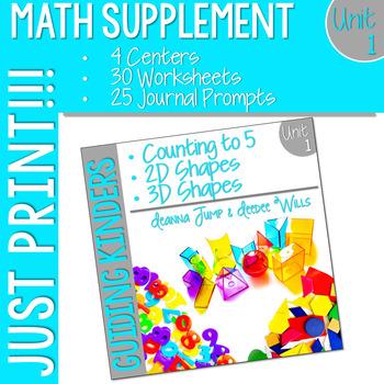 Kindergarten Math Supplement: Unit 1