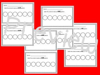 Math Half-Sheet Morning Work : Patterns