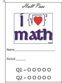 Math Hall Pass