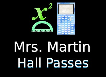 Math Hall Passes