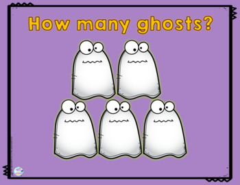 Math Halloween Ghost Center: Count The Ghosts To 20