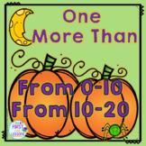 Math Halloween Pumpkin Center: One More Than