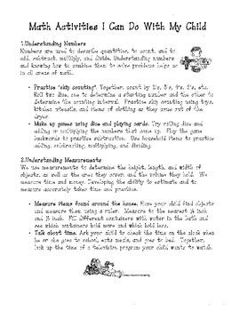 Math Handouts for Parents by Teach | Teachers Pay Teachers