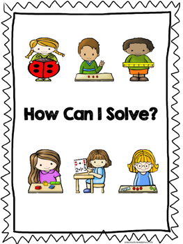 Math Hands-on Solution Strategy Posters and Bookmarks for Kindergarten