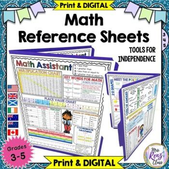 Math Reference Sheets (Grades 3-5) Math Reference Charts