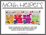 Math Helpers {addition, subtraction, multiplication, division}