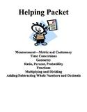 Math Helping Packet (3rd - 6th Grades)