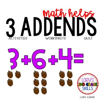3 Addends  2.OA.A.1  2nd Grade Math Helps