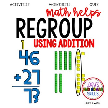 2 Digit Addition w/ Regrouping  2.NBT.B.5 2nd Grade Math Helps