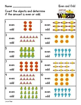 Even and Odd  2.OA.C.3   2nd Grade Math Helps
