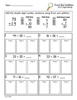 Front End Addition  2.NBT.B.5  2nd Grade Math Helps