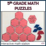 Math Interactive Puzzle 5th Grade Math Station