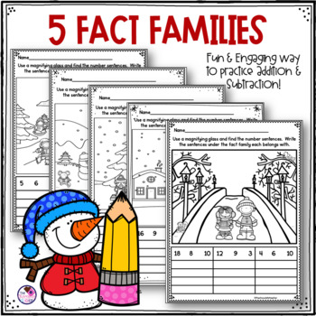 Math Hidden Facts Printables