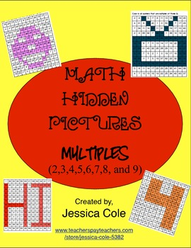 Math Hidden Pictures - Multiples