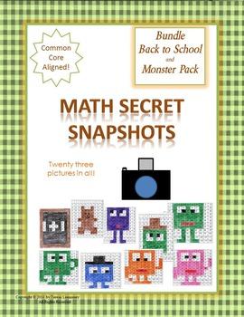Math Mystery Pictures {Bundle} on 120 Grid Math Secret Snapshots