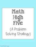Math High Five - A Problem Solving Strategy