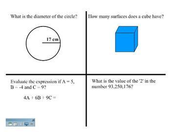 Math High School Admissions Test POD's