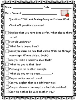 Math Higher Order Thinking Questions/ Accountable Talk