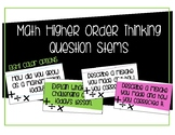 Math Higher Order Thinking Questions Posters