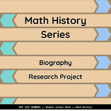 Math History Series - Biography Research Project (Slideshow)