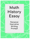 Math History Narrative Writing Prompt
