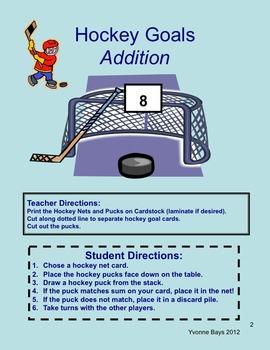 Math Hockey & Ice Skating Games & Activities K - 1