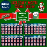 Math Holiday Game Show Grades 2nd Thru 5th for NWEA MAP and Common Core practice