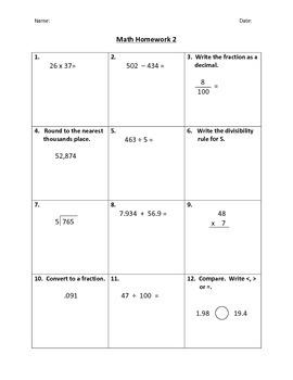Math Homework #1