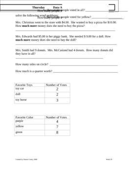 Math Homework 1st Grade 2nd semester