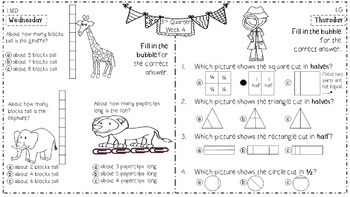 Math Homework for 1st Grade - 3rd Quarter
