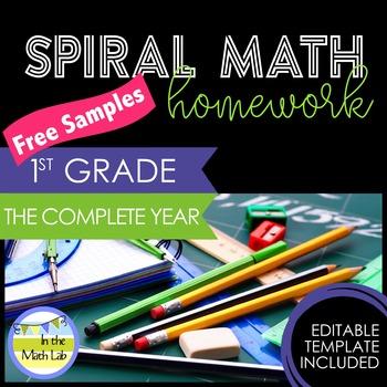 Math Homework 1st Grade - FREE Samples