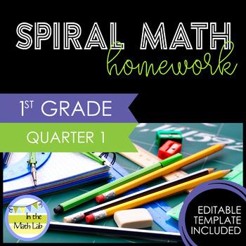 Math Homework 1st Grade - Quarter 1