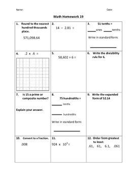 Math Homework #2