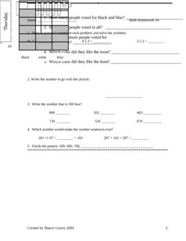 Math Homework 2nd Grade 2nd semester