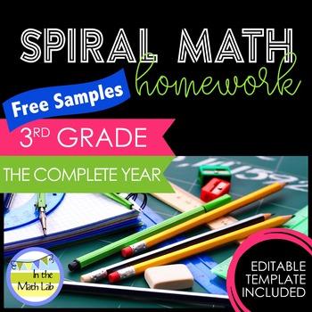 Math Homework 3rd Grade - FREE Samples