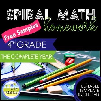 Math Homework 4th Grade - FREE Samples