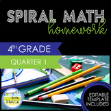 4th Grade Math Homework - Quarter 1