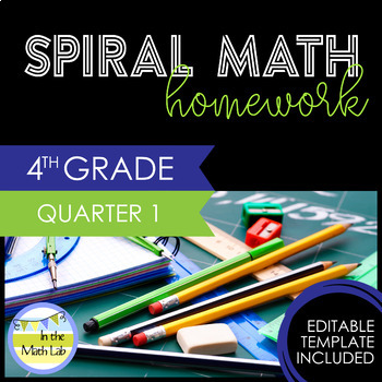 Math Homework 4th Grade - Quarter 1
