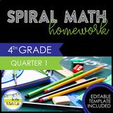 Math Homework 4th Grade - Quarter 1