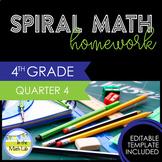 Math Homework 4th Grade Quarter 4