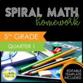 Math Homework 5th Grade - Quarter 1