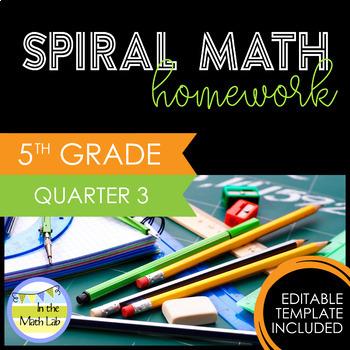 Math Homework 5th Grade - Quarter 3