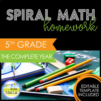 5th Grade Math Homework - Complete Year BUNDLE
